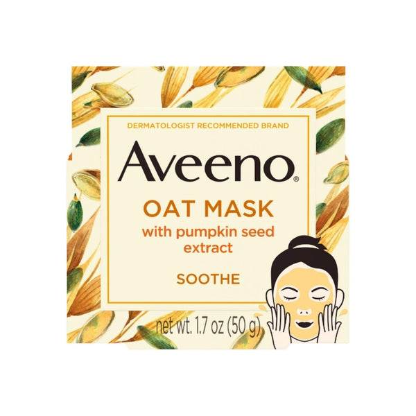 AVEENO Soothing Oat Face Mask with Pumpkin Seed and Feverfew Extract, 1.7 oz