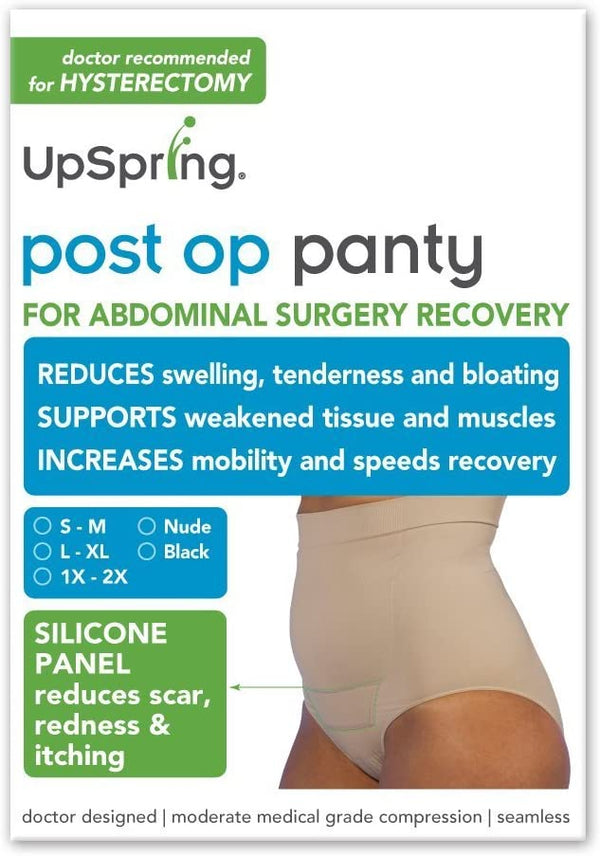 Post Op Panty High Waist w/ Silicone S/M, Nude