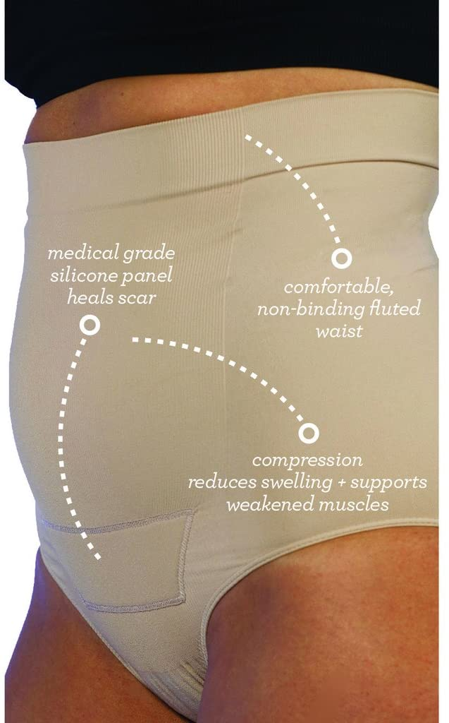 Post Op Panty High Waist w/ Silicone L/XL, Nude