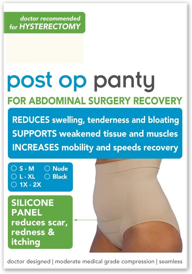 Post Op Panty High Waist w/ Silicone S/M, Black