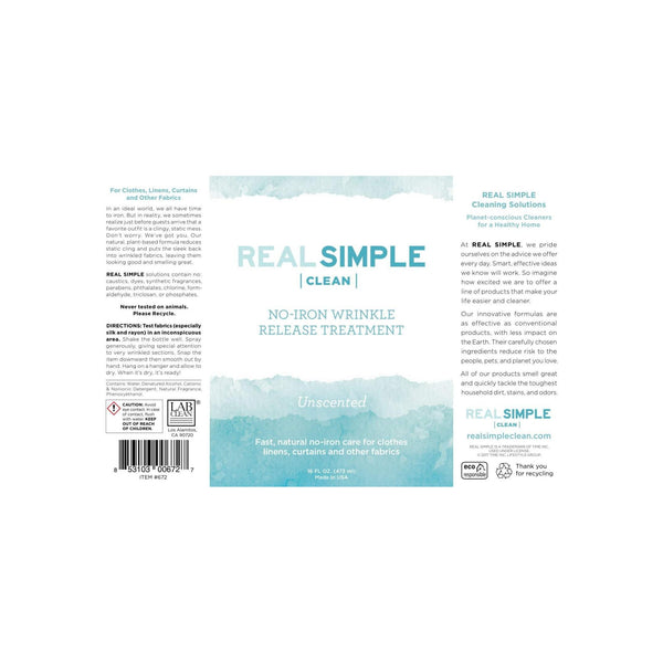 Real Simple Clean Unscented Wrinkle Release Set