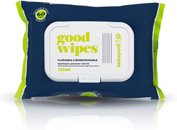 Goodwipes Below the Belt Flushable Wipes for Men, Cedar Scent, 60 Wipe Pack, 1 Count