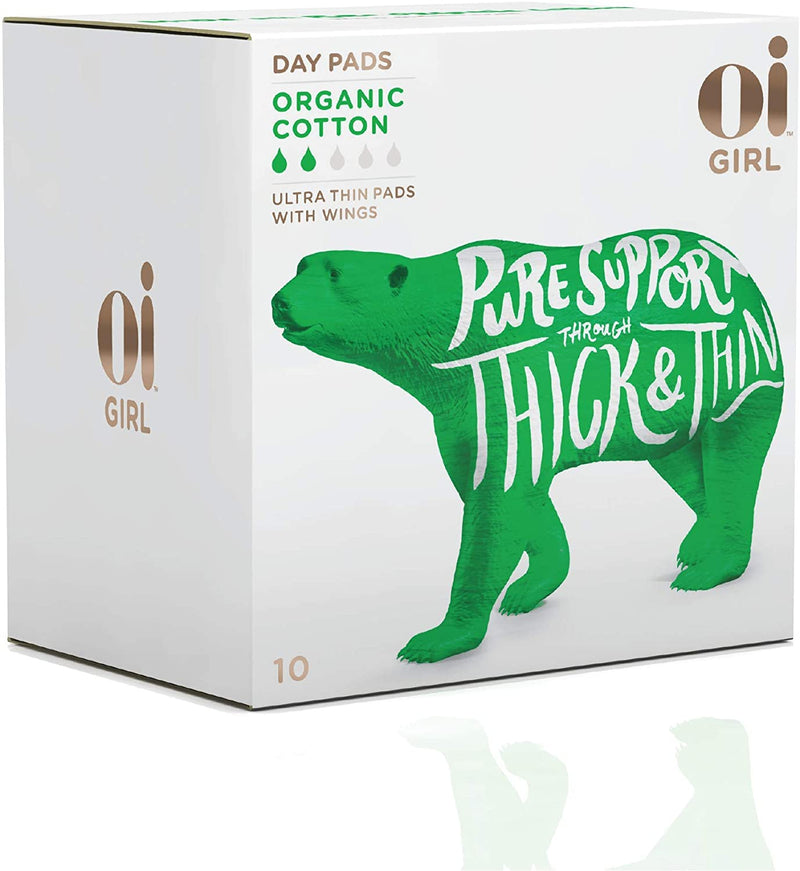 Oi Girl Organic Cotton Ultra Thin Day Pads