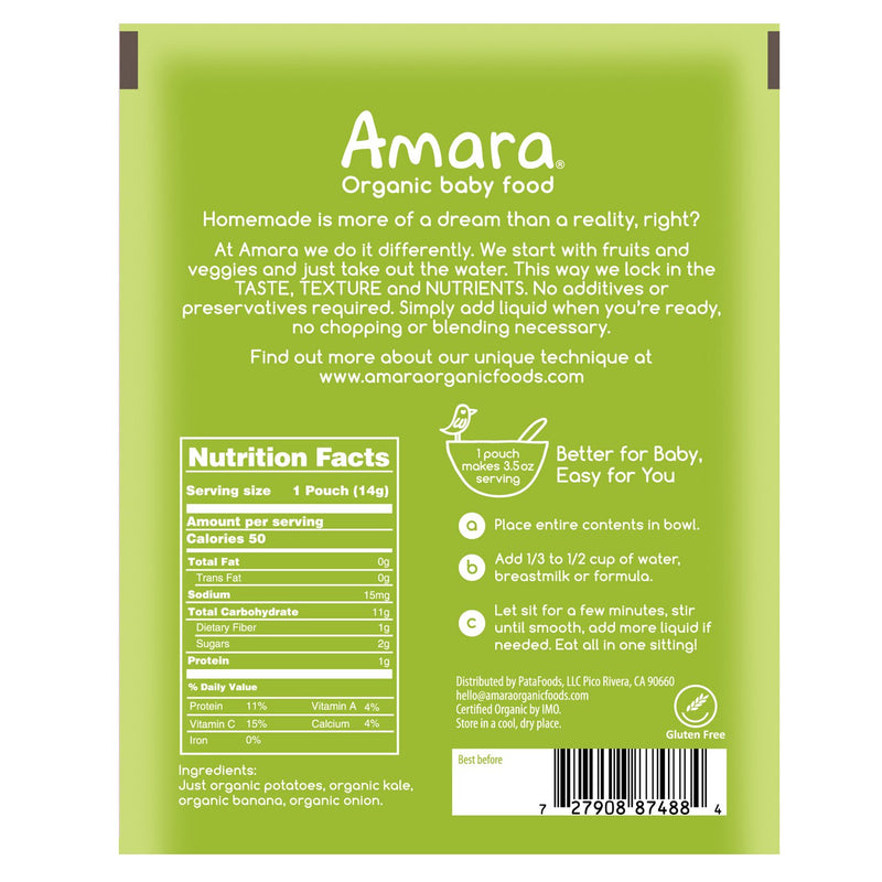 Amara Organic Potato Kale Mash Baby Food