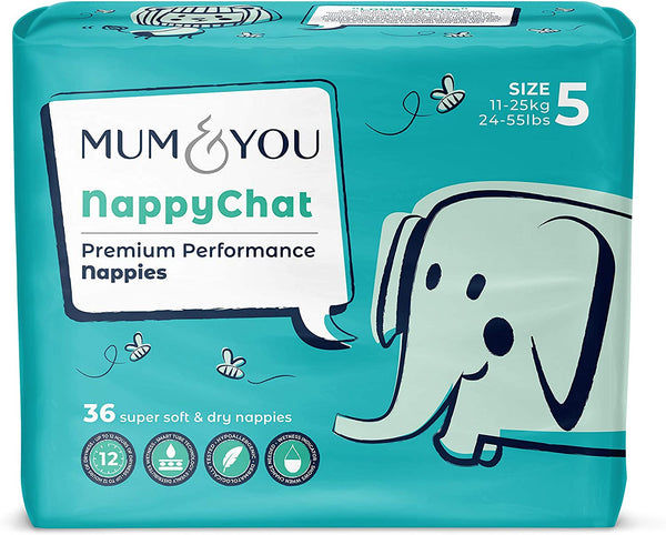 Mum&You Nappychat Smart Tube Technology Size 5 Diapers