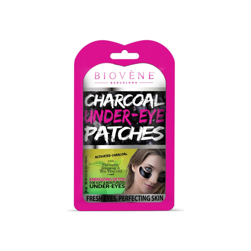 Biovène Charcoal Under-Eye Patches, 0.21 oz  Energizing Detox for Soft and Moisturized Under-Eyes - Soothing Eye Patches With Activated Charcoal, Collagen and Chamomile