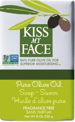 Kiss My Face Pure Olive Oil Bar Soap Fragrance Free 8oz