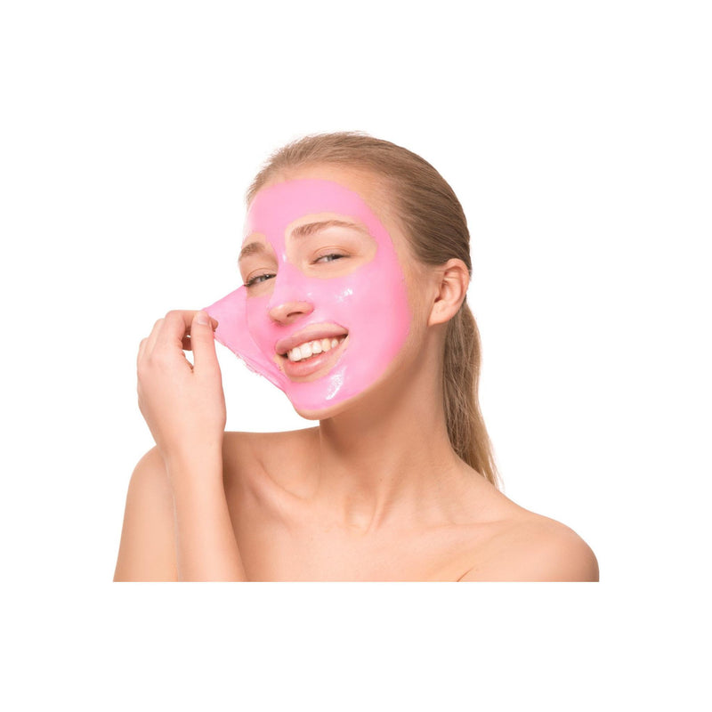 Biovène Pink Peel-Off Mask, 12.5ml sachet 0.42 oz Pink Mask with Activated Charcoal, Strawberry Extract and Collagen