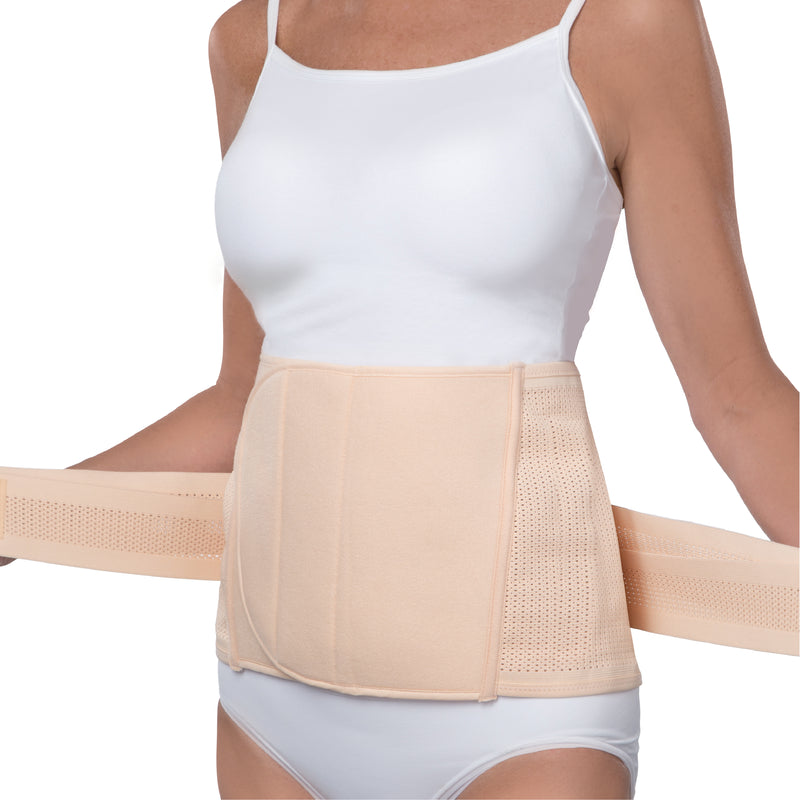 UpSpring Shrinkx Belly Postpartum Belly Wrap, Nude (S/M)