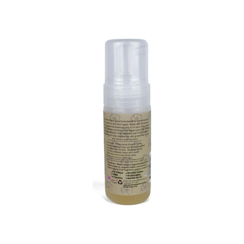 Farmstead Apothecary 100% Natural Foaming Face Wash with Organic Jojoba Oil, Lemon Almond 5 oz
