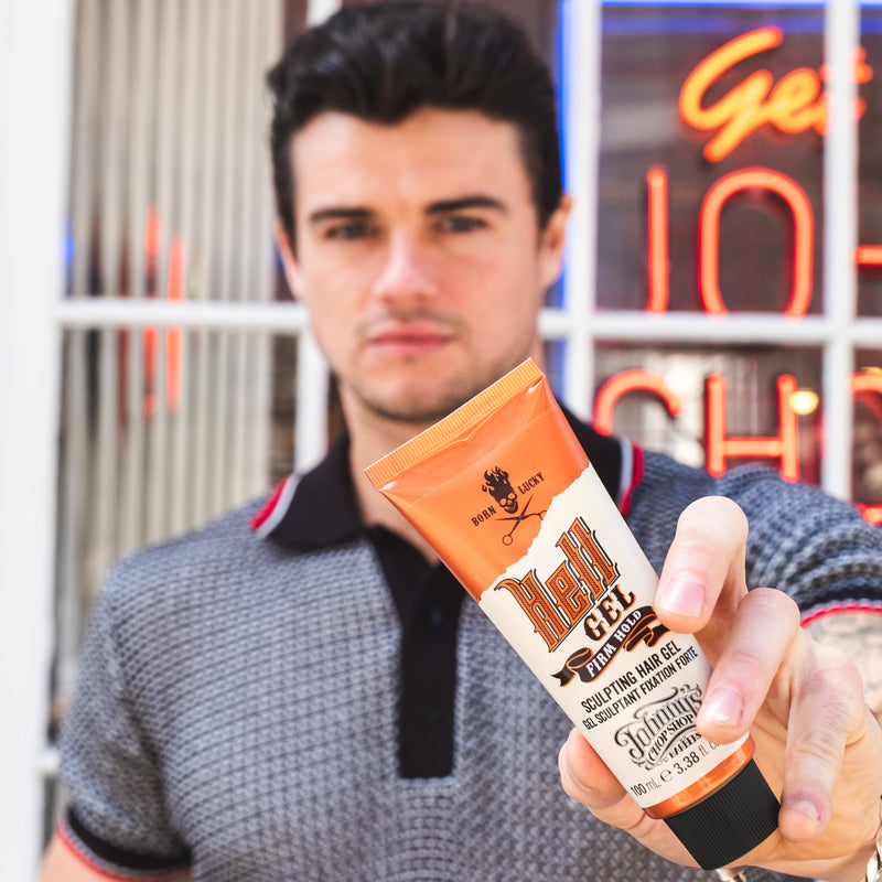 Johnny's Chop Shop Hell Gel, Firm Hold Sculpting Hair Gel