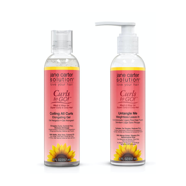 Jane Carter Solution Curls To Go, Coiling Curls Gel & Untangle Me Conditioner Bundle