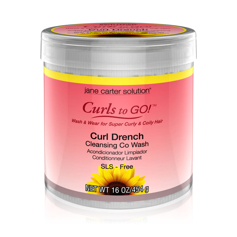 Jane Carter Solution Curl Drench Cleansing Co-Wash (16oz) - Hydrating, Nourishing, Reduce Frizz, 1each