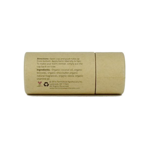 Farmstead Apothecary 100% Natural Lip Balm with Organic Beeswax, Pear & Almond 0.25 oz