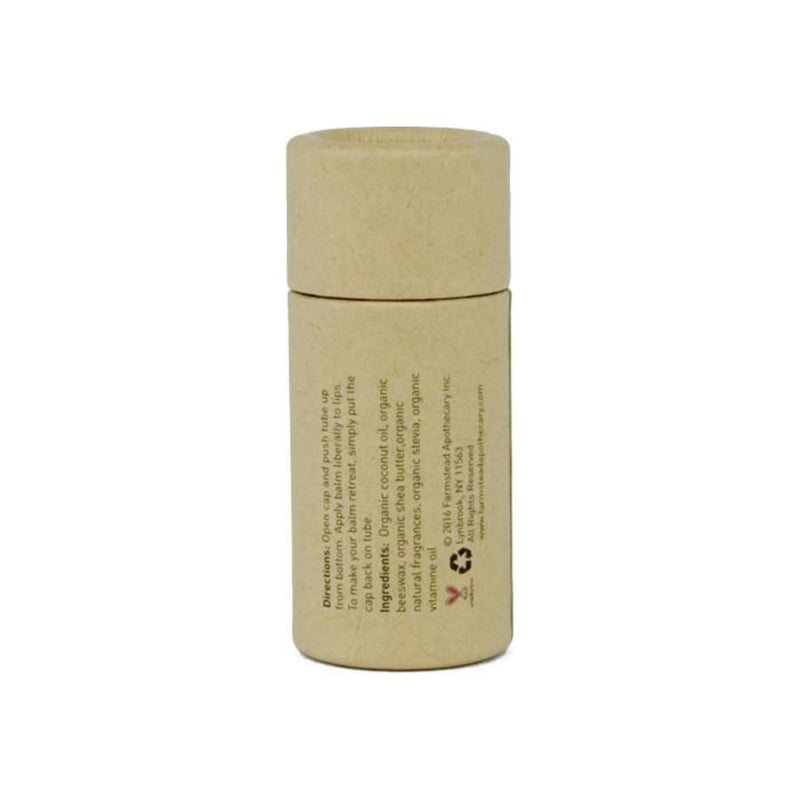Farmstead Apothecary 100% Natural Lip Balm with Organic Beeswax, Boysenberry Vanilla 0.25 oz