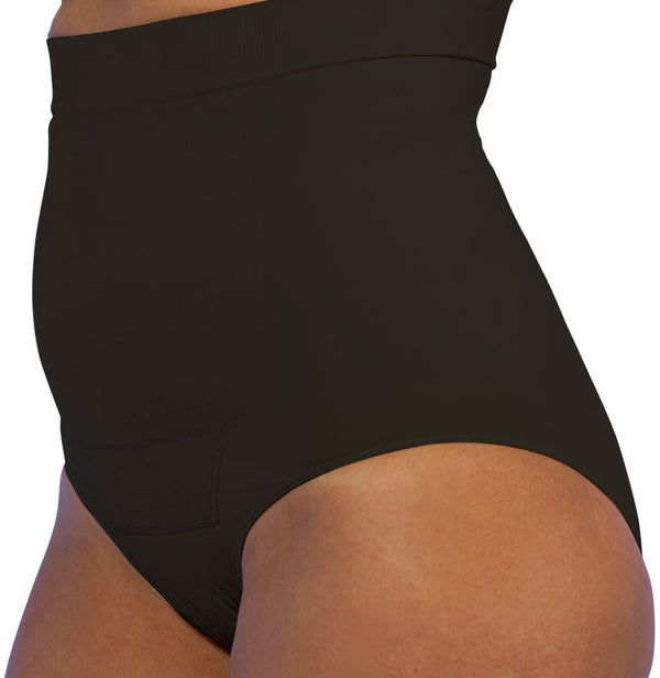 Post Op Panty High Waist 2-Pack 1X/2X , Nude/Black