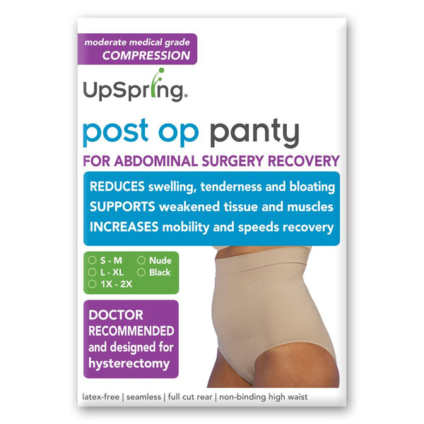 Post Op Panty High Waist No Silicone S/M, Nude