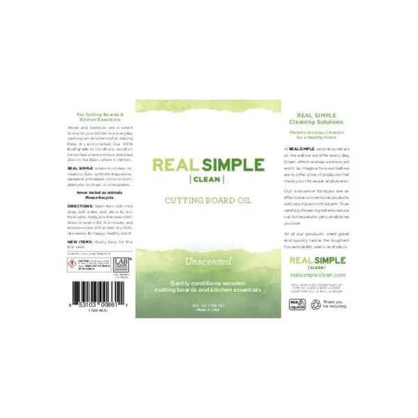 Real Simple Clean Unscented Cutting Board Mineral Oil