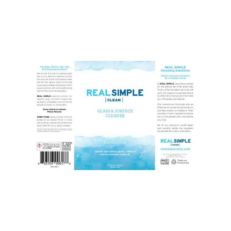 Real Simple Clean Eucalyptus Glass & Surface Cleaner