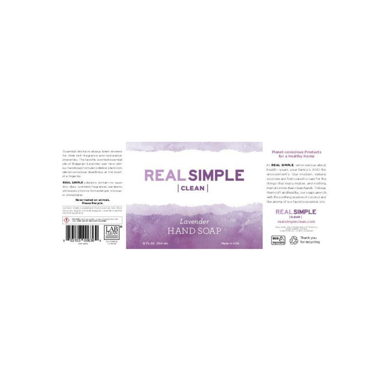 Real Simple Clean Liquid Hand Soap - Lavender
