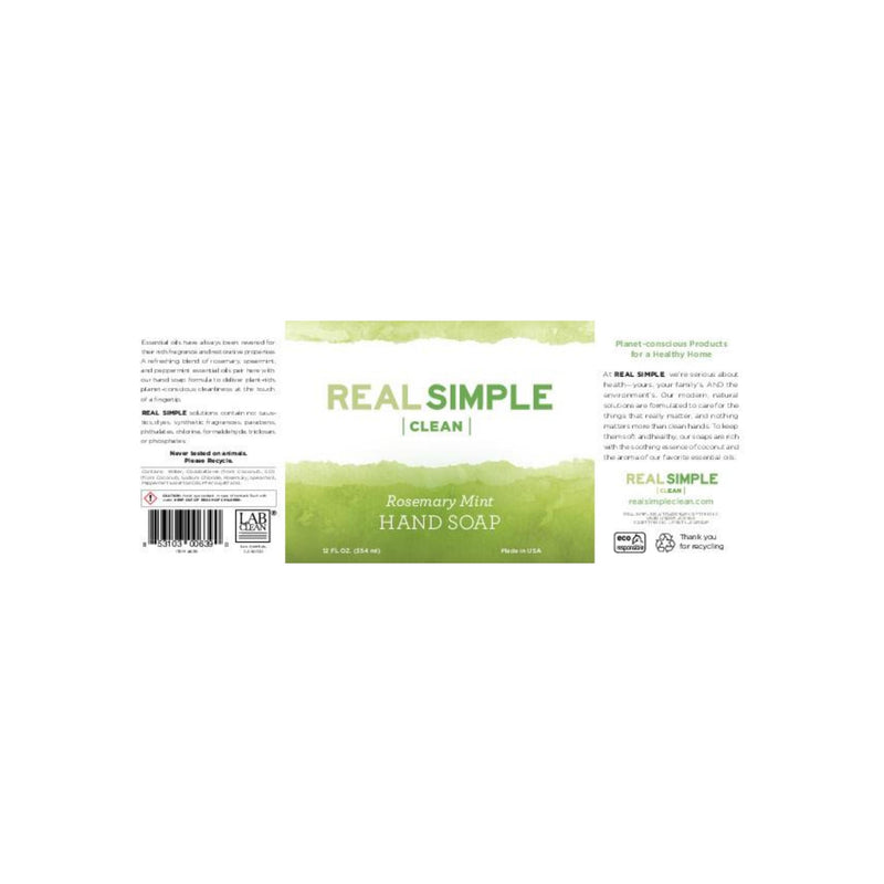 Real Simple Clean Rosemary Mint Liquid Hand Soap