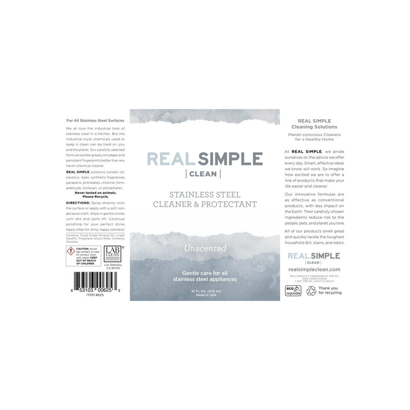 Real Simple Clean Unscented Stainless Steel Cleaner & Protectant