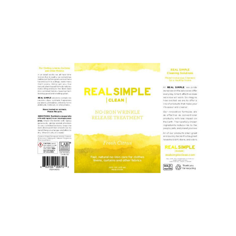 Real Simple Clean Citrus Wrinkle Release Spray