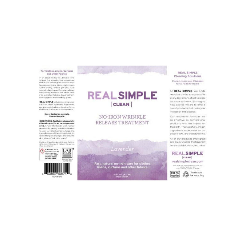Real Simple Clean Lavender Wrinkle Release Spray