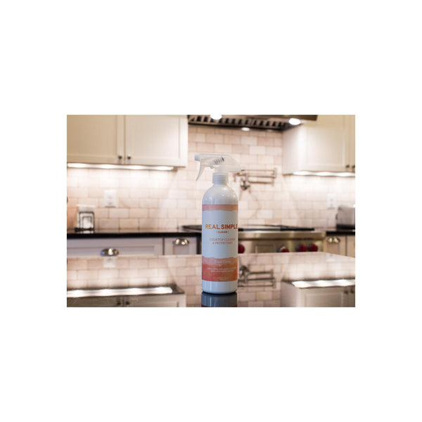 Real Simple Clean Cooktop Cleaner & Protectant, 24 ounce, For Ceramic, Glass, and Enamel Cooktops, Plant-Based Formula, Made in USA & Not Tested on Animals
