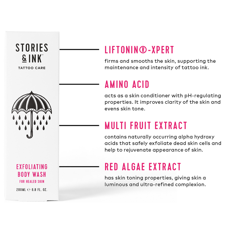 Stories & Ink Exfoliating Body Wash