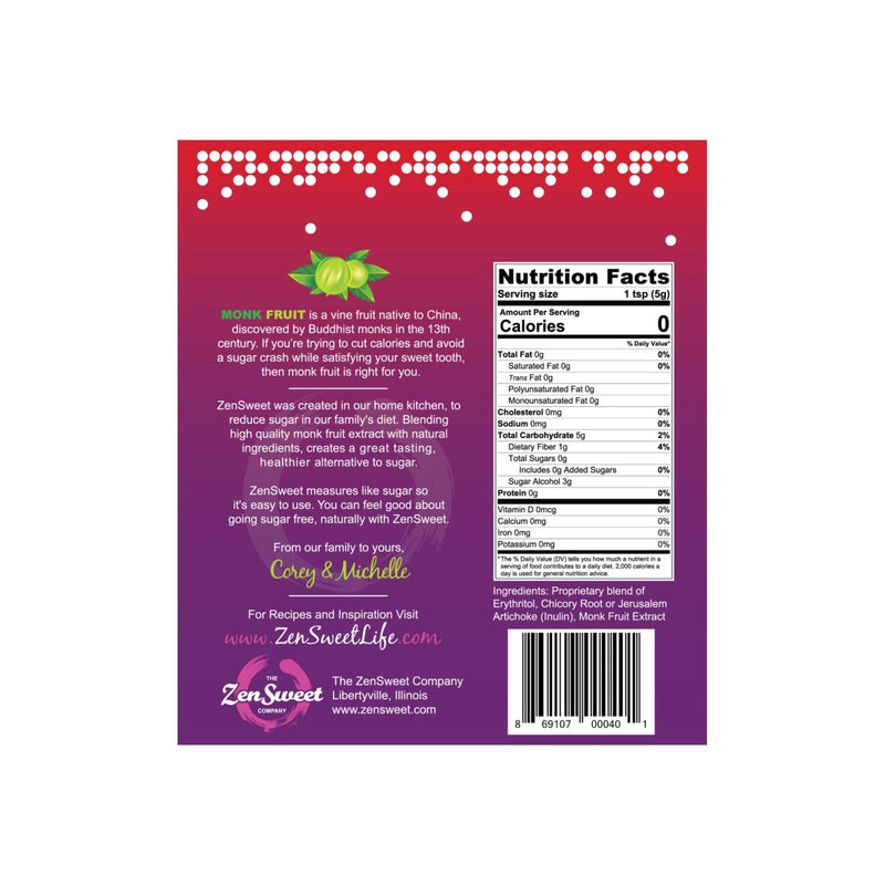 ZenSweet- All Natural Monk Fruit Sugar-Free Sweetener