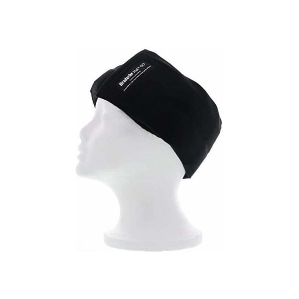 Headache Hat- GO (Black) Ice Pack for Migraine Headaches and Tension Relief