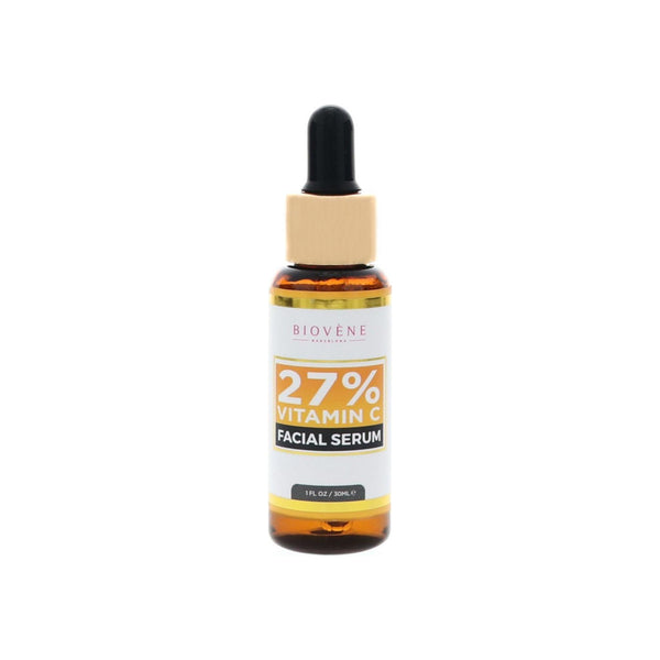 Biovène Vitamin C 27% Serum for Face, 1 oz, Supports Radiant and More Youthful Looking Skin, Soothing, Brightening and Firming Characteristics, May Reduce Fine Lines