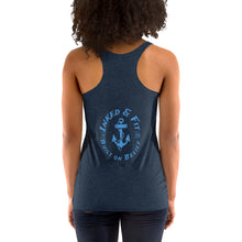 Load image into Gallery viewer, Look like a beauty train like a beast Women's Racerback Tank