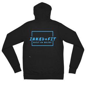 Inked and Fit Unisex zip hoodie