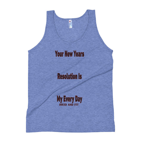 New Years Resolution Unisex Tank Top