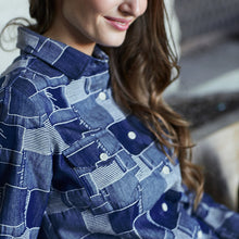 Load image into Gallery viewer, Boro Denim Shirt - The Funding Ninjas