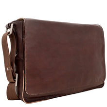 Load image into Gallery viewer, Hidesign Fred Leather Business Laptop Messenger Cross Body Bag