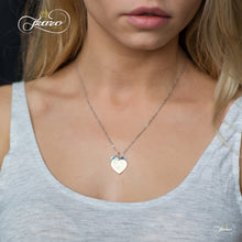Load image into Gallery viewer, Sister Double Heart Necklace, 925 Silver, 14K Gold and Silver Plated Two Heart Necklace