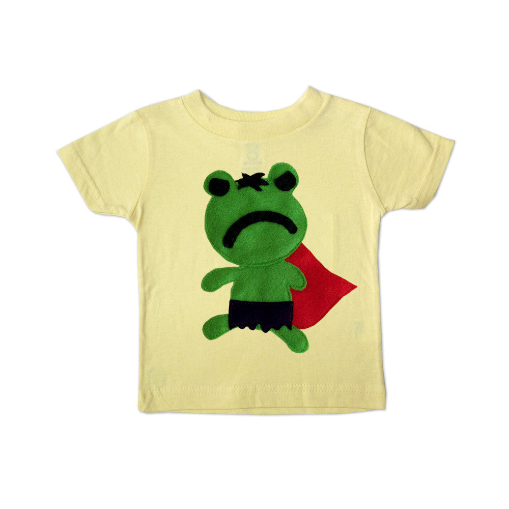 Kids Superhero Shirt - Team Super Animals - Hopper Froggy