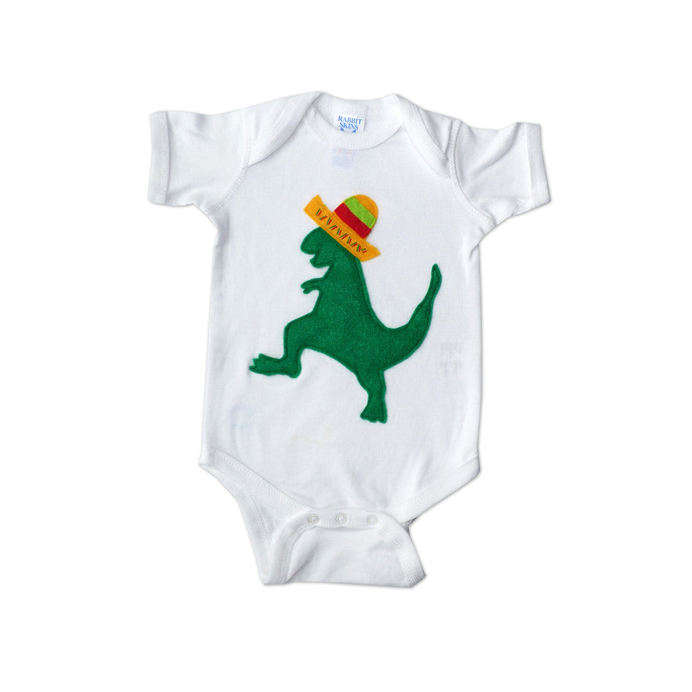 Baby Onesie - Mexican Dancing Dinosaur with Sombrero - The Funding Ninjas