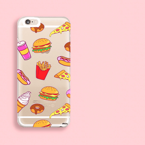 """CLEARANCE"" iPhone 6 Clear Case Cover - Fast Food - The Funding Ninjas"