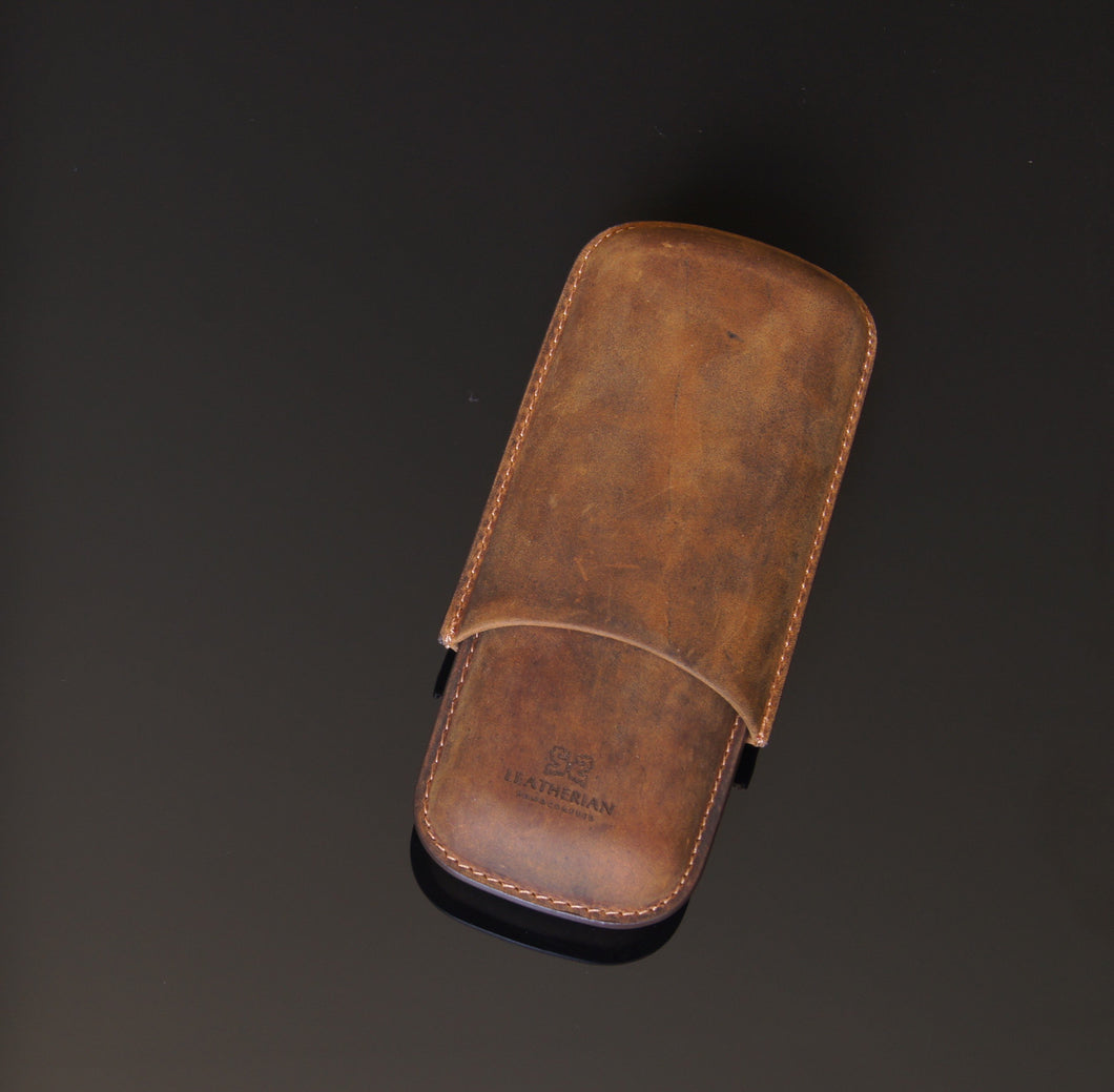 Cigar Case | Moulded Leather - The Funding Ninjas