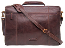 "Load image into Gallery viewer, Hidesign Charles Large Double Gusset Leather 17"" Laptop Compatible Briefcase Work Bag"