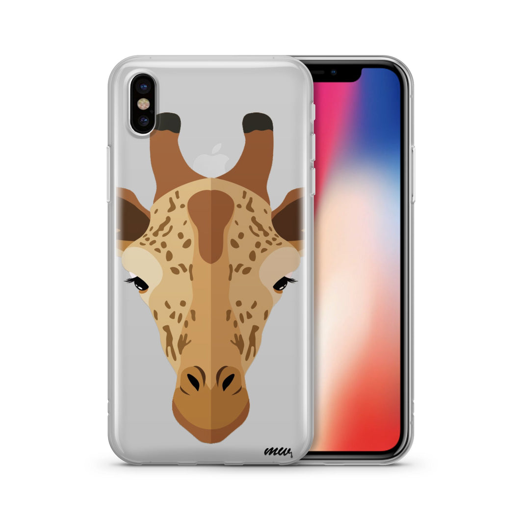 African Giraffe - Clear TPU Case Cover - The Funding Ninjas