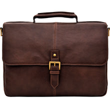 "Load image into Gallery viewer, Hidesign Charles Leather 15"" Laptop Compatible Briefcase Work Bag"