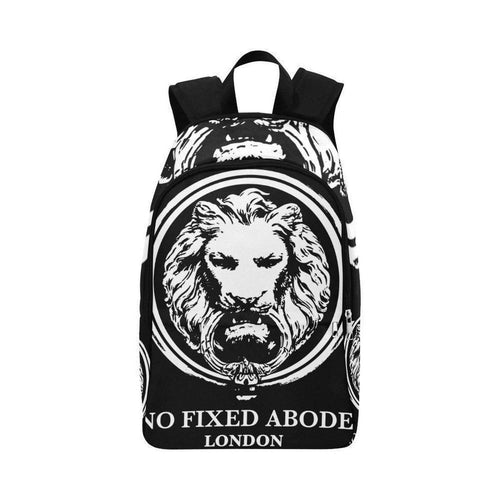 Large White Lion All Over Print Adult Backpack