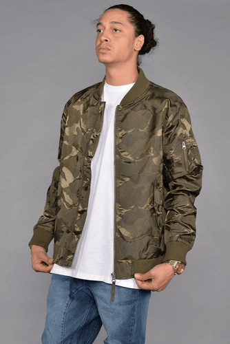 Tonal Fatigue Bomber Jacket (Olive)