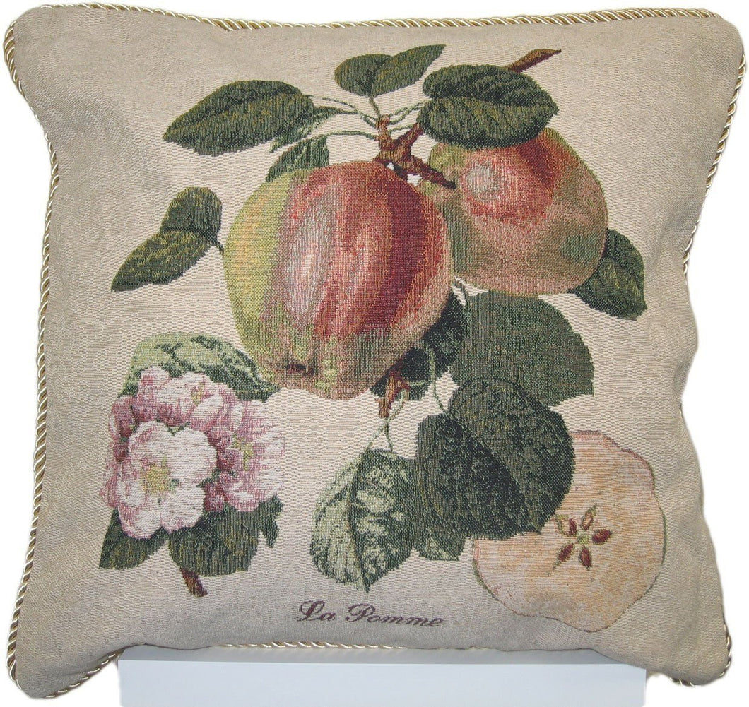 Splendor of Apples Fruit Elegant Novelty Woven Accent Cushion Cover Throw Toss Pillow Case - 1-Piece - 18