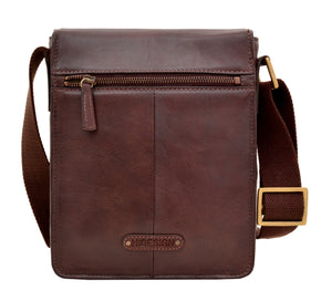 Aiden Small Leather Messenger Cross Body Bag - The Funding Ninjas
